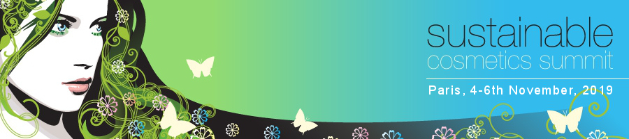 Sustainable Cosmetics Summit header and logo